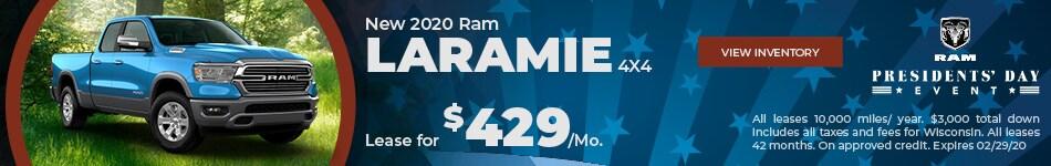 New 2020 Ram Laramie 4X4