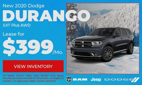 New 2020 Dodge Durango GT