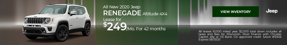 All New 2020 Jeep Renegade Altitude 4X4