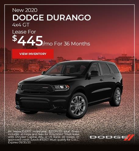 New 2020 Dodge Durango 4x4 GT