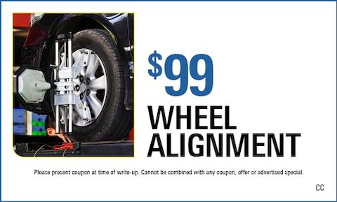 $99 Wheel Alignment