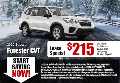 2020 Forester Lease Special