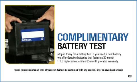 Complimentary Battery Test