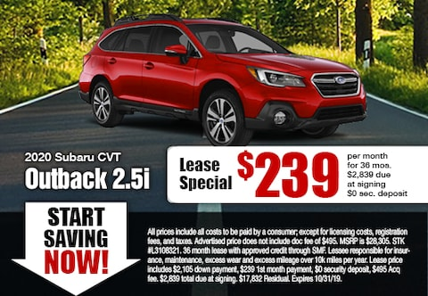 2019 Outback Specials