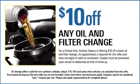 $10 Off Any Oil & Filter Change