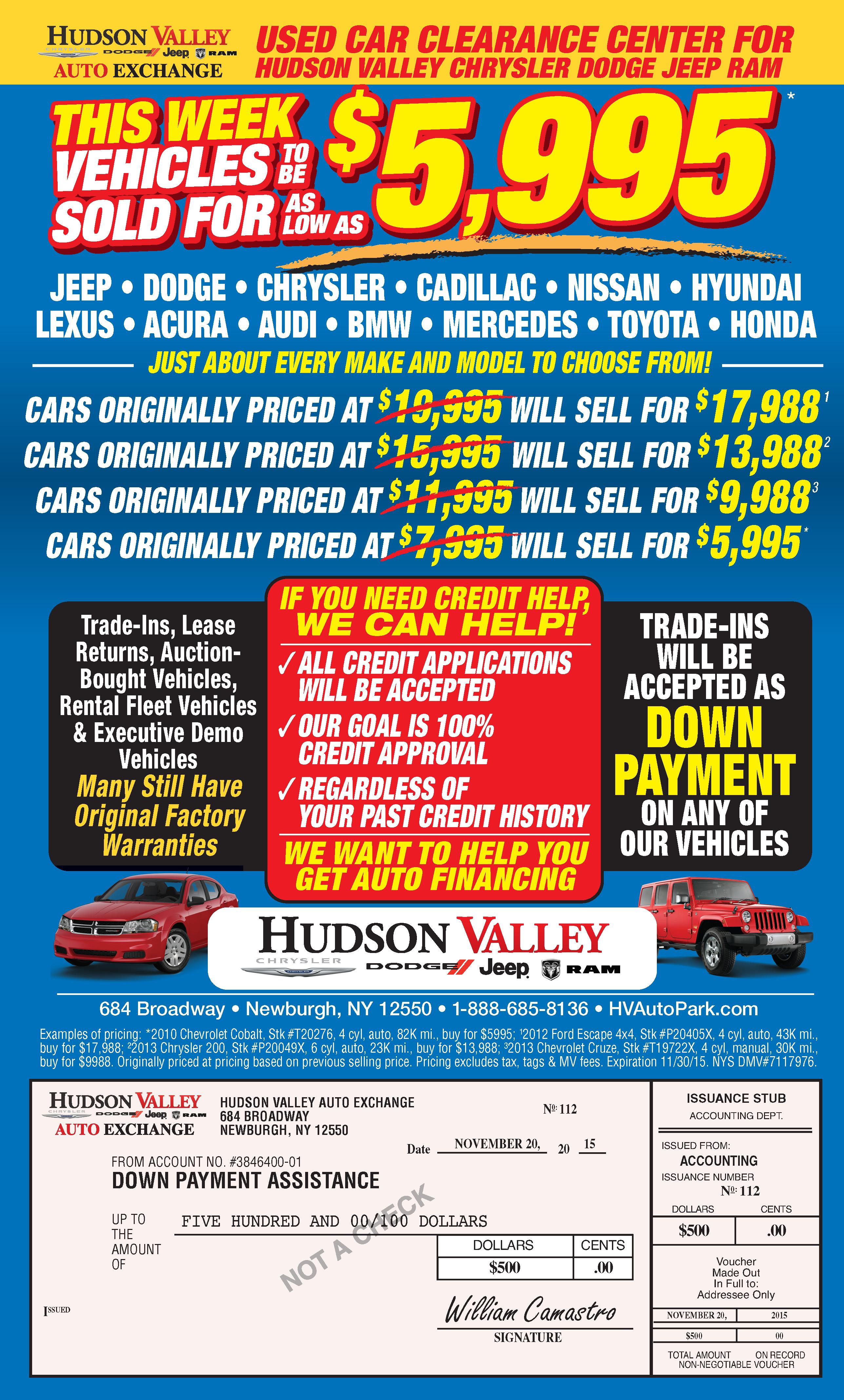Used Car Dealer Hudson Valley