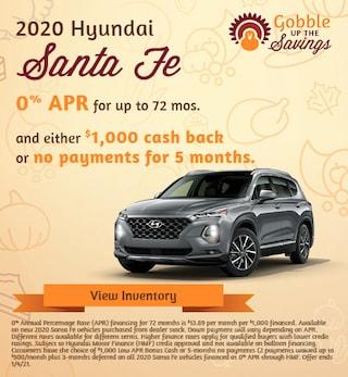 Hyundai Santa Fe Financing Special Offer