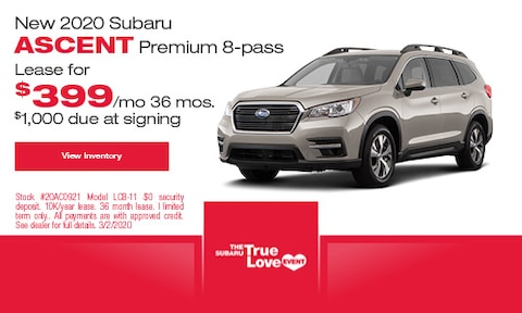 New 2020 Subaru Ascent Premium 8-pass