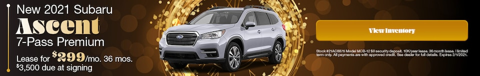 New 2021 Subaru Ascent 7-Pass Premium