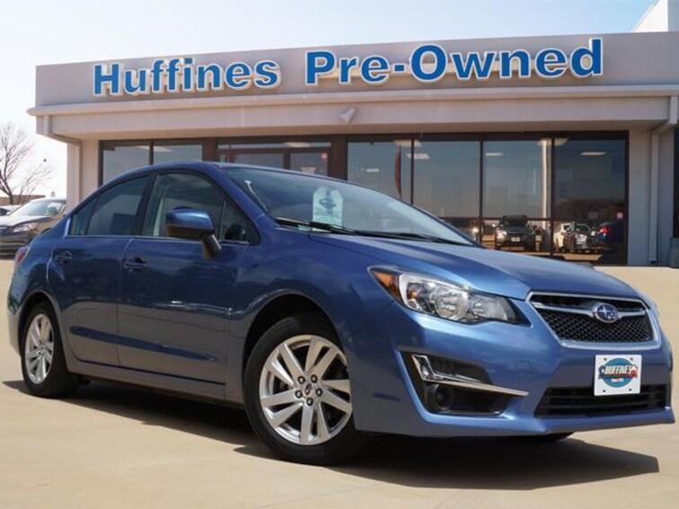 Certified Pre Owned 2015 Subaru Impreza 4dr CVT 2.0i Premium Sedan For Sale Denton, Texas