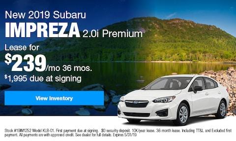 New 2019 Subaru Impreza 2.0i Premium