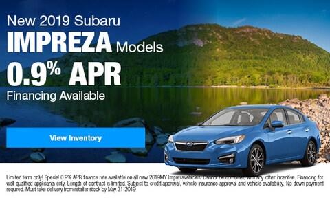 New 2019 Subaru Impreza Models
