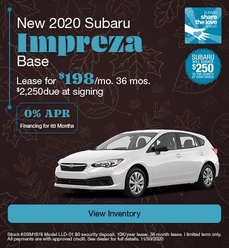 New 2020 Subaru Impreza Base