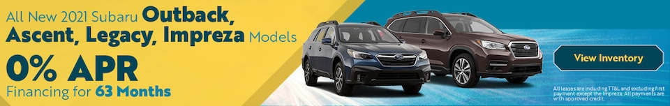 All New 2021 Subaru Outback, Ascent, Legacy, Impreza Models