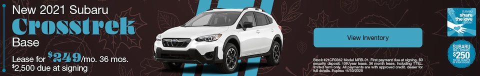 New 2021 Subaru Crosstrek Base