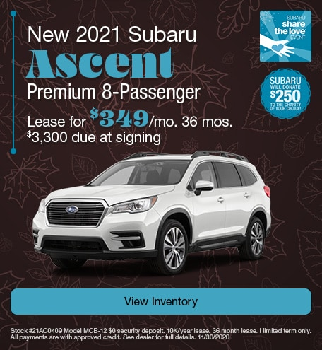 New 2021 Subaru Ascent Premium 8-Passenger