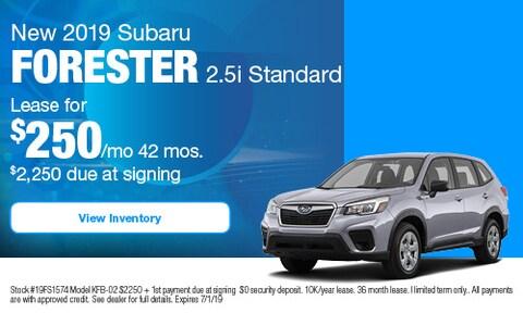 New 2019 Subaru Forester 2.5i Standard