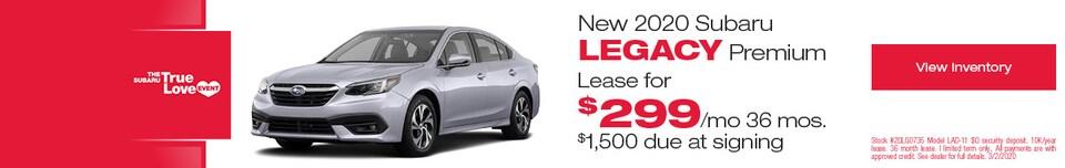 New 2020 Subaru Legacy Premium