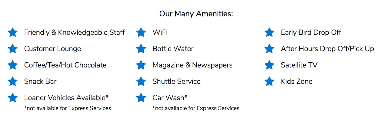 Honda Oil Change Service Amenities Near Fort Worth TX