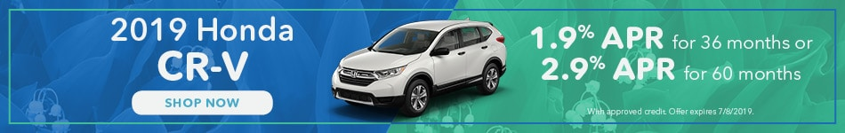 May 2019 Honda CR-V Finance
