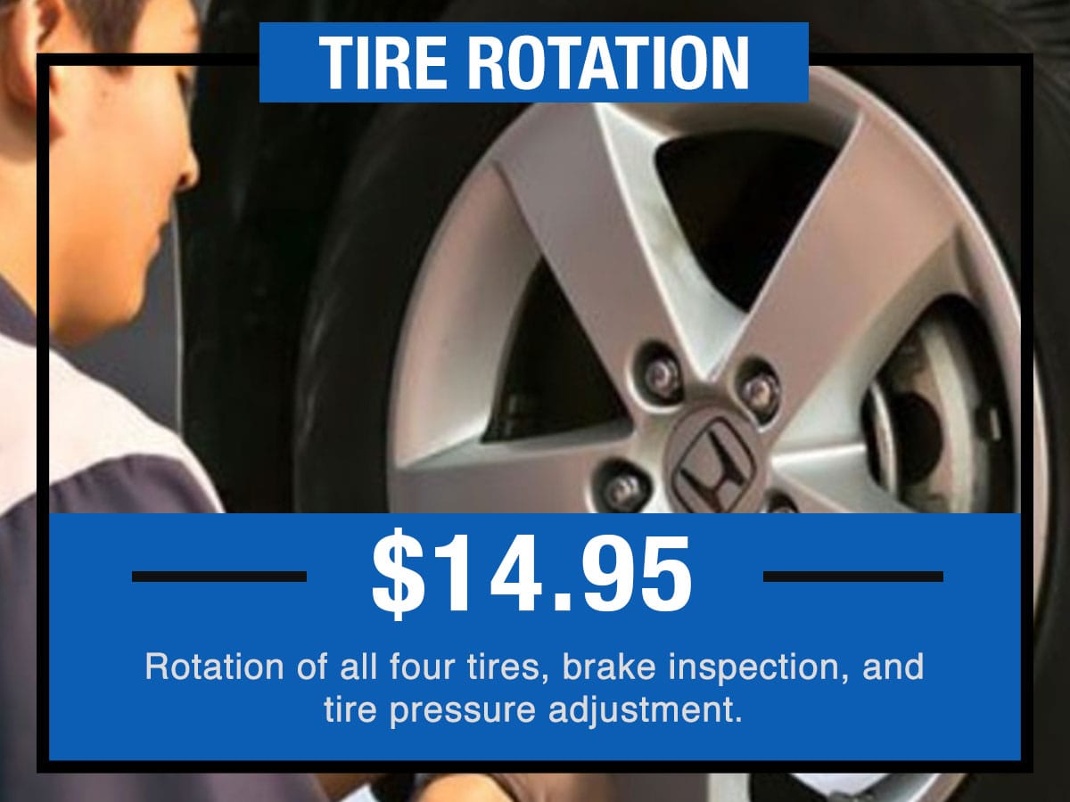 Honda  Tire Rotation Near Fort Worth TX
