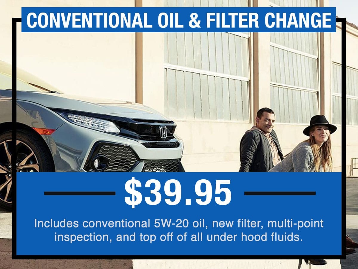 Honda Conventional Oil & Filter Change Near Fort  Worth TX