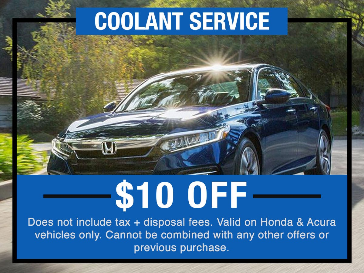 Honda  Coolant Service Near Fort Worth TX