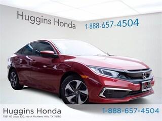 New 2020 Honda Civic LX Sedan LE009212 for sale near Fort Worth TX
