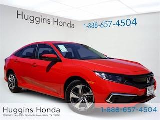 New 2020 Honda Civic LX Sedan LH591655 for sale near Fort Worth TX