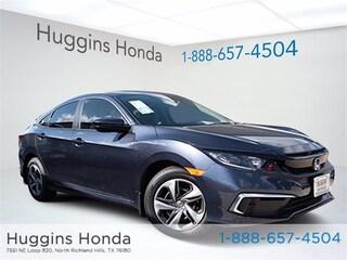 New 2020 Honda Civic LX Sedan LH579701 for sale near Fort Worth TX