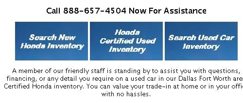Honda Certified Pre Owned Financing >> Honda Certified Used Car Specials Certified Pre Owned Car