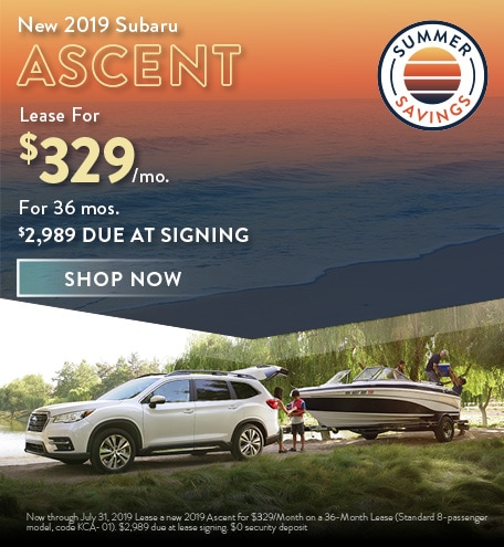 2019 Subaru Ascent Offer