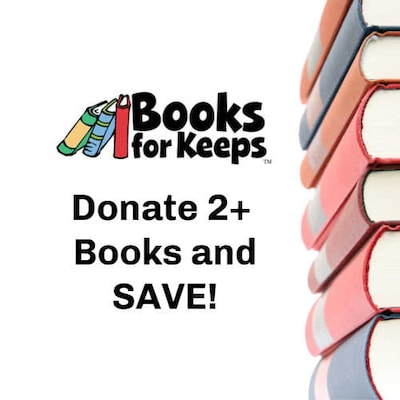 Donate 2+ Books and SAVE!