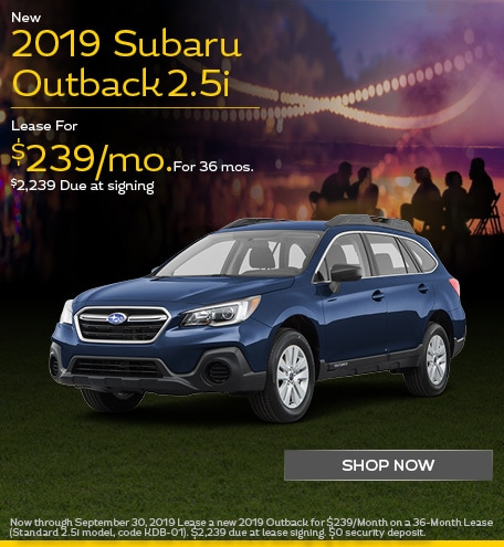 New 2019 Subaru Outback - September Special
