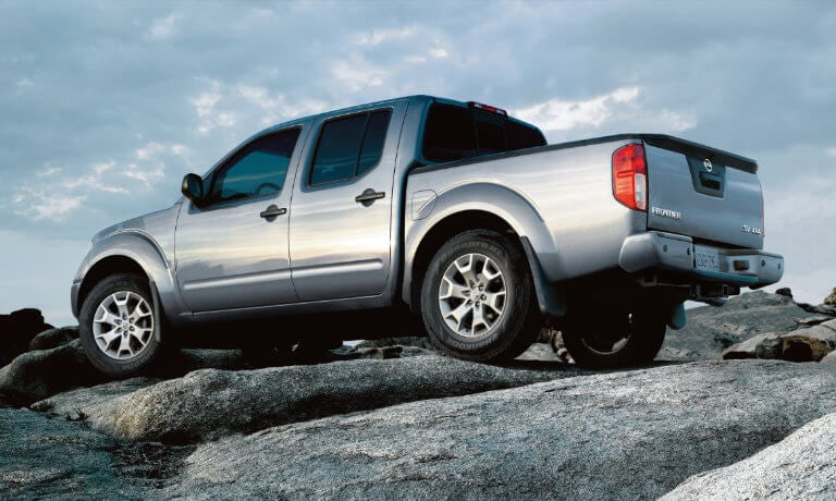 2021 Nissan Frontier exterior parked on top of boulders