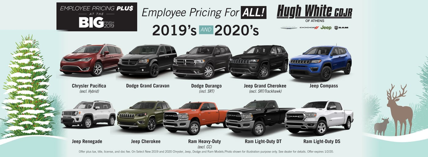 Employee Pricing on all 2019 & 2020 vehicles