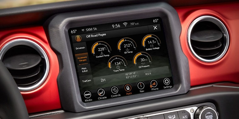 2020 Jeep Gladiator Infotainment Screen