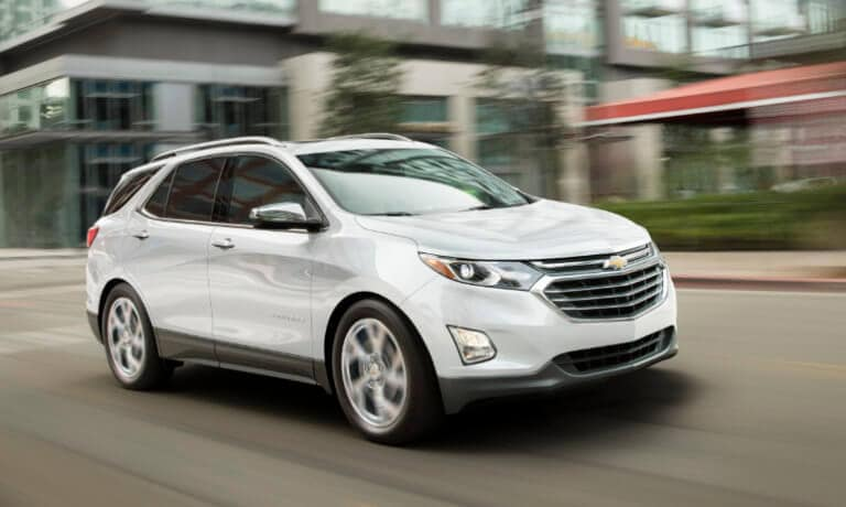 2021 Chevy Equinox exterior driving in city