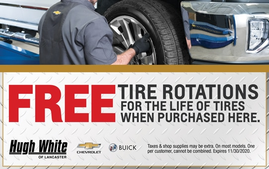 Free Tire Rotations | Hugh White Chevy Buick Lancaster, OH