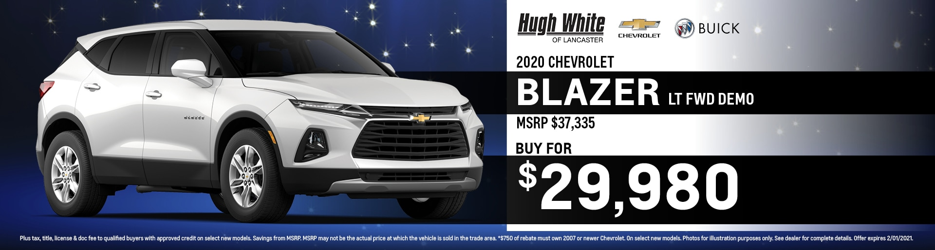 2020 Chevy Blazer Special Offer | Hugh White Chevy Buick Lancaster, OH