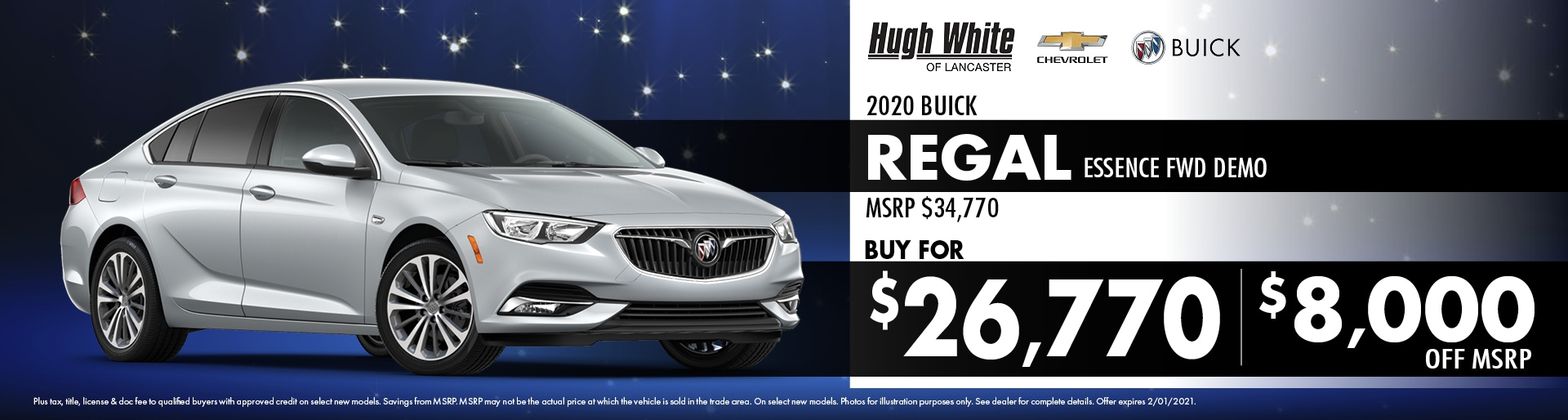 2020 Buick Regal Special Offer | Hugh White Chevy Buick Lancaster, OH