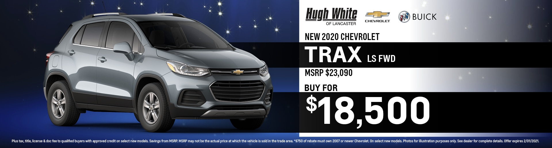 2020 Chevy Trax Special Offer | Hugh White Chevy Buick Lancaster, OH