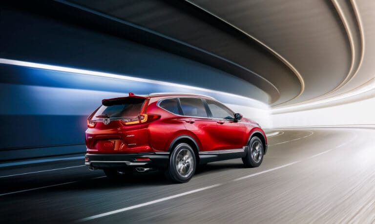 2021 Honda CR-V exterior driving in tunnel
