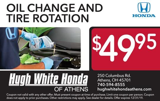 Oil Change Coupons Columbus Ohio >> Service Specials Hugh White Honda Athens