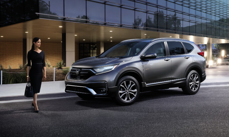 2021 Honda CR-V exterior woman walking out of office