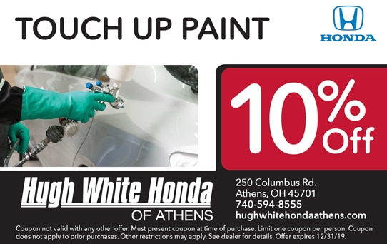 Touch Up Paint 10% Off