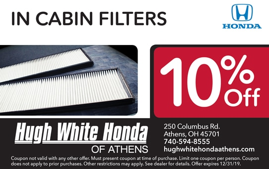 In Cabin Filters 10% Off