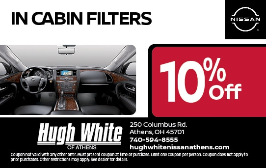 10% off In Cabin Filters