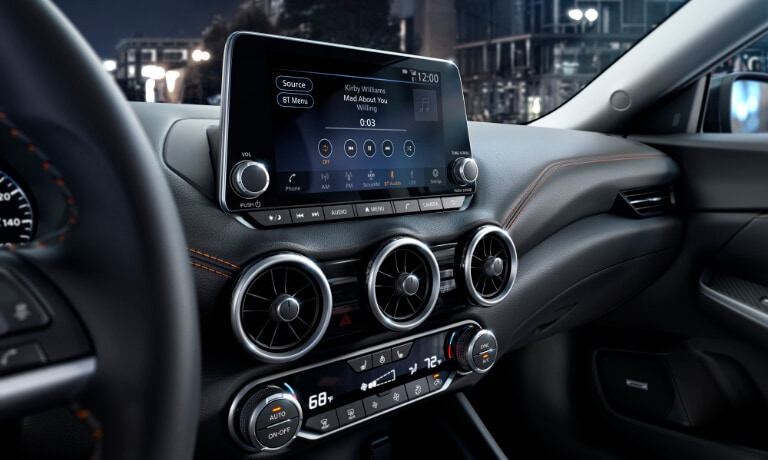 2021 Nissan Sentra intertior infotainment screen