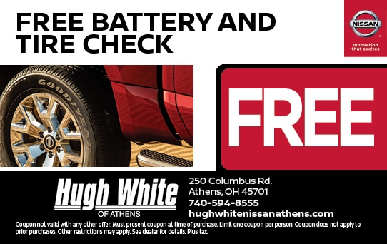 Free Battery & Tire Check